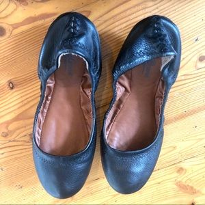Lucky brand black leather ballet  flats Sz 6M